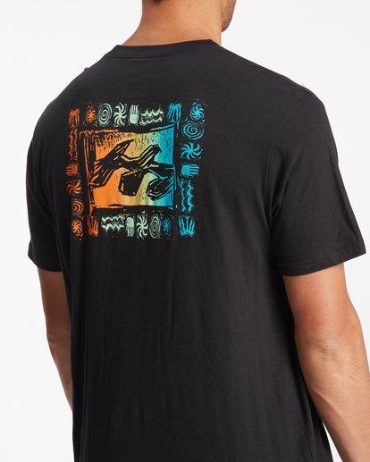 4 Crayon Wave Short Sleeve T-Shirt Black ABYZT00795 Billabong