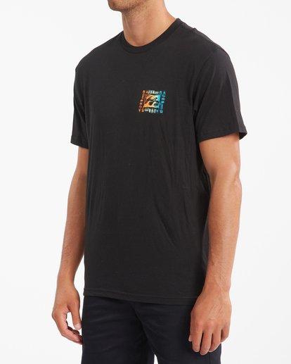 1 Crayon Wave Short Sleeve T-Shirt Black ABYZT00795 Billabong