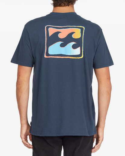 2 Crayon Wave Short Sleeve T-Shirt Blue ABYZT00795 Billabong
