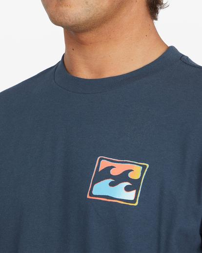3 Crayon Wave Short Sleeve T-Shirt Blue ABYZT00795 Billabong