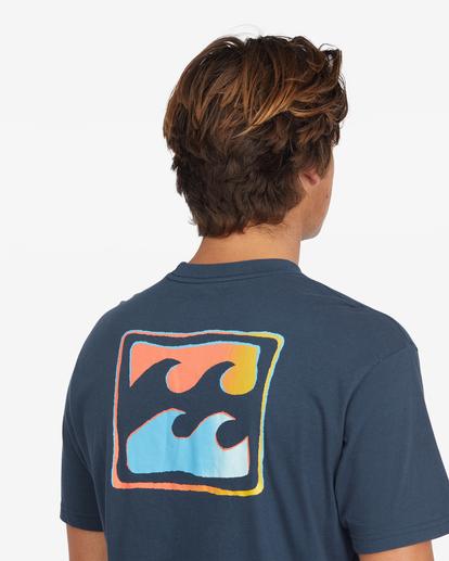 4 Crayon Wave Short Sleeve T-Shirt Blue ABYZT00795 Billabong