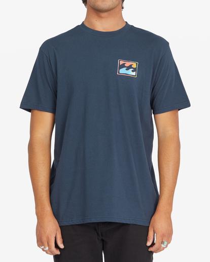 0 Crayon Wave Short Sleeve T-Shirt Blue ABYZT00795 Billabong