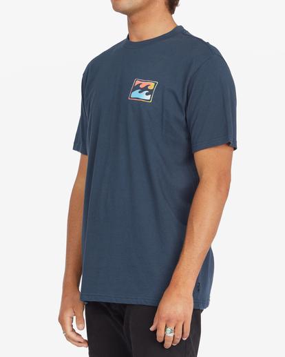 1 Crayon Wave Short Sleeve T-Shirt Blue ABYZT00795 Billabong