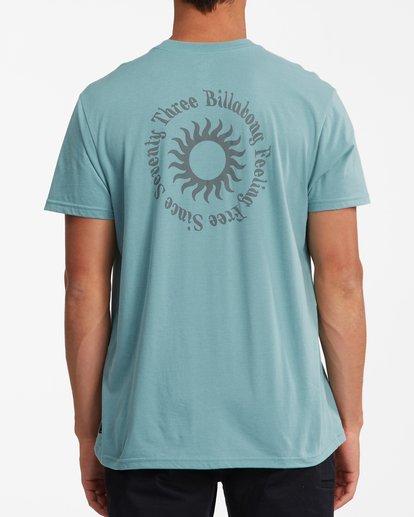 3 Sunshine Short Sleeve T-Shirt Blue ABYZT00801 Billabong