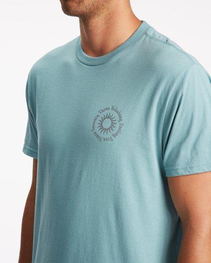 4 Sunshine Short Sleeve T-Shirt Blue ABYZT00801 Billabong