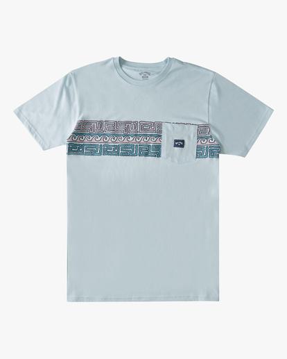 0 Halfrack Stripe Pocket T-Shirt Blue ABYZT00809 Billabong