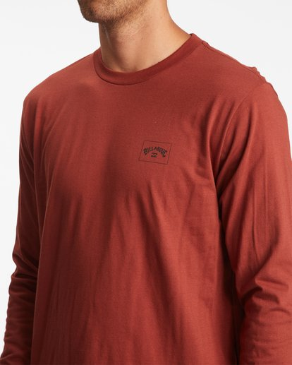 3 Stacked Arch Long Sleeve T-Shirt Red ABYZT00827 Billabong