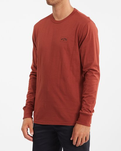 1 Stacked Arch Long Sleeve T-Shirt Red ABYZT00827 Billabong