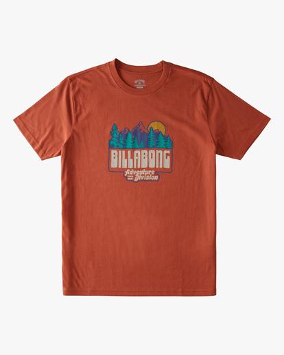 4 Woodland Short Sleeve T-Shirt Brown ABYZT00842 Billabong