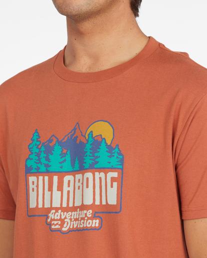 3 Woodland Short Sleeve T-Shirt Brown ABYZT00842 Billabong