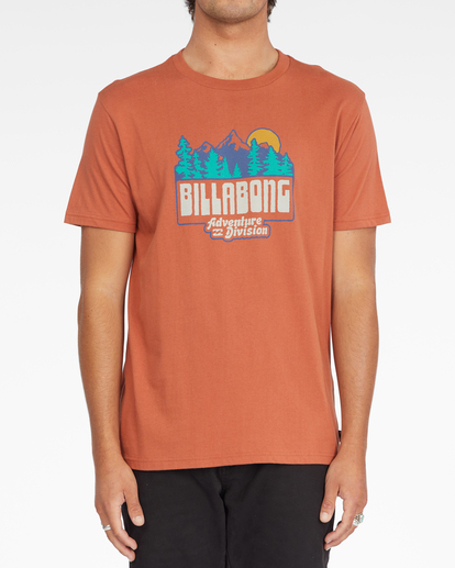 0 Woodland Short Sleeve T-Shirt Brown ABYZT00842 Billabong