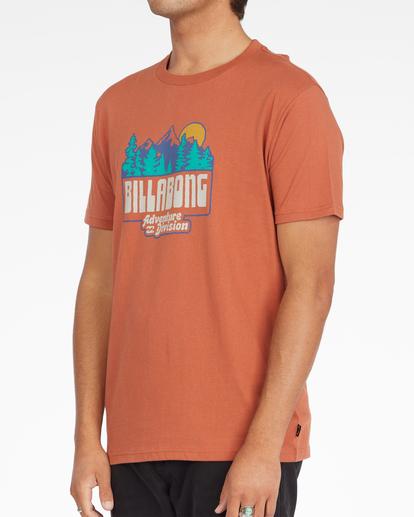 1 Woodland Short Sleeve T-Shirt Brown ABYZT00842 Billabong