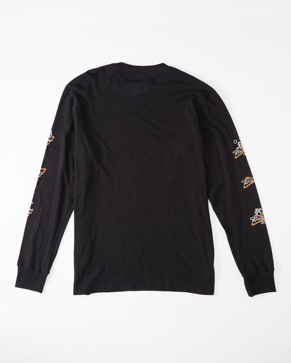 5 Budweiser Stacked Neon Long Sleeve T-Shirt Black ABYZT01022 Billabong