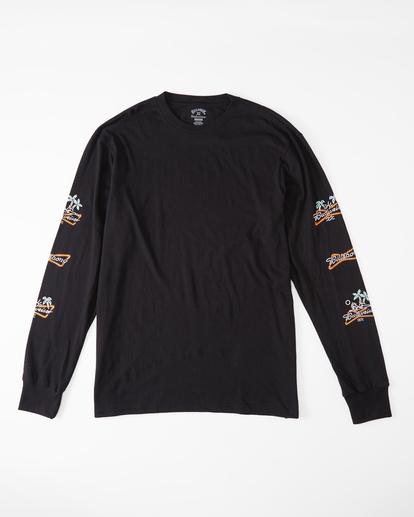 4 Budweiser Stacked Neon Long Sleeve T-Shirt Black ABYZT01022 Billabong