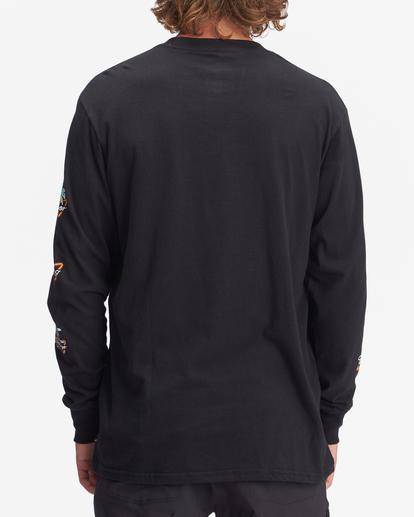2 Budweiser Stacked Neon Long Sleeve T-Shirt Black ABYZT01022 Billabong