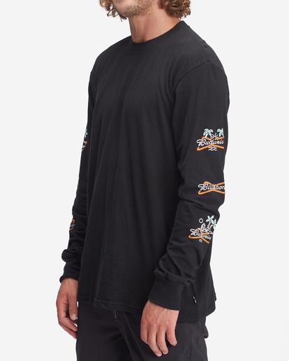 1 Budweiser Stacked Neon Long Sleeve T-Shirt Black ABYZT01022 Billabong
