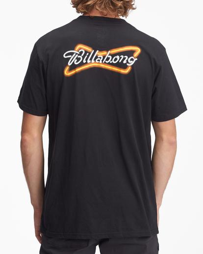 2 Budweiser Bow Neon Short Sleeve T-Shirt Black ABYZT01024 Billabong