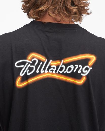3 Budweiser Bow Neon Short Sleeve T-Shirt Black ABYZT01024 Billabong