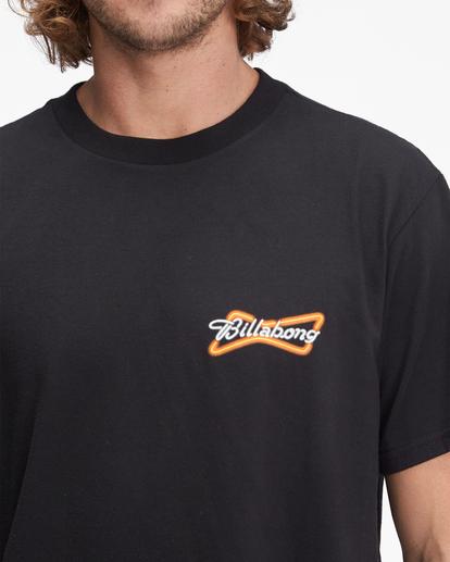 4 Budweiser Bow Neon Short Sleeve T-Shirt Black ABYZT01024 Billabong