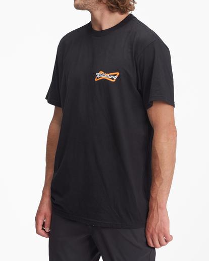 1 Budweiser Bow Neon Short Sleeve T-Shirt Black ABYZT01024 Billabong