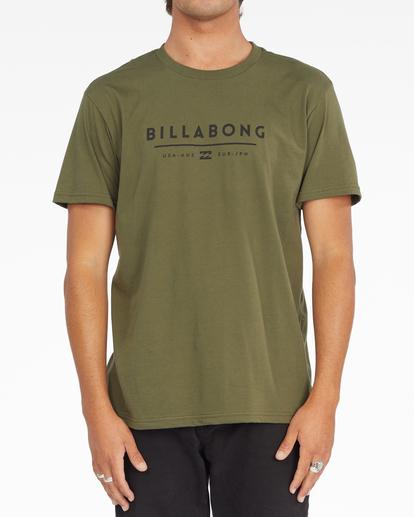 0 Unity Block Short Sleeve T-Shirt Green ABYZT01163 Billabong