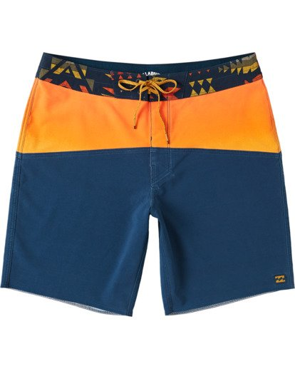 "0 Boys' Fifty50 Pro Boardshorts 17"" Yellow B1173BFF Billabong"