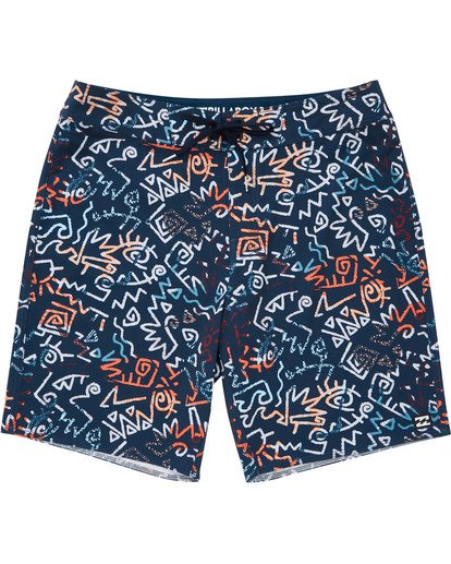0 Boys' Sundays Pro Boardshorts Blue B123TBSU Billabong