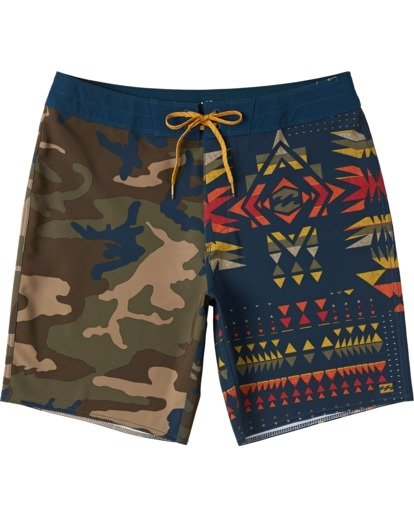 "0 Boys' Sundays Interchange Pro Boardshorts 17"" Yellow B1243BSI Billabong"
