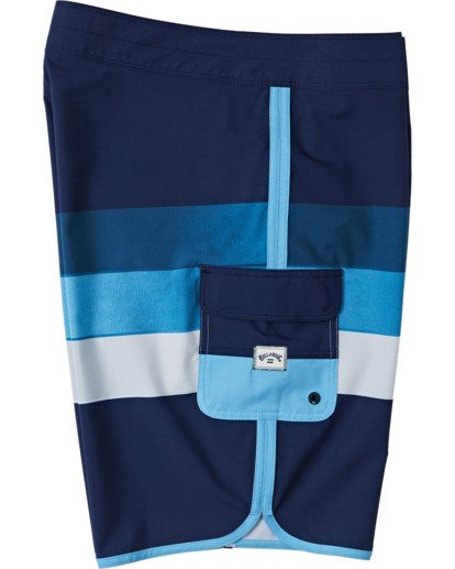 2 Boys' 73 Stripe Pro Boardshorts Blue B1271BST Billabong