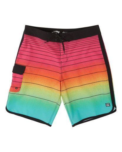 0 Boys' 73 Stripe Pro Boardshorts Red B1271BST Billabong