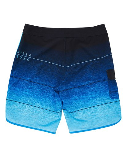 1 Boys' 73 Stripe Pro Boardshorts Blue B127TBST Billabong