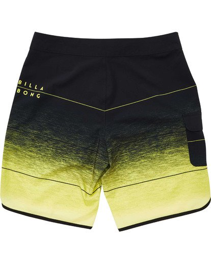 1 Boys' 73 Stripe Pro Boardshorts Yellow B127TBST Billabong