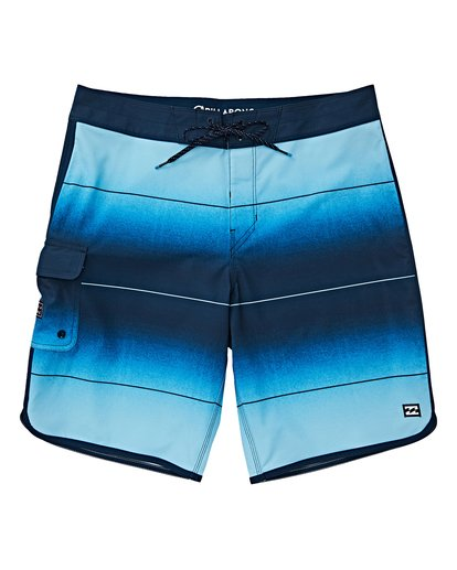 0 Boys' 73 Stripe Pro Boardshorts Blue B127VBST Billabong
