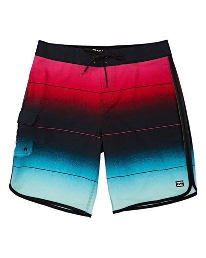 0 Boys' 73 Stripe Pro Boardshorts Green B127VBST Billabong