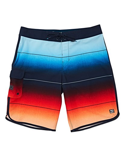 0 Boys' 73 Stripe Pro Boardshorts Red B127VBST Billabong