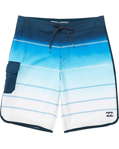 0 Boys' 73 X Stripe Boardshorts Blue B129NBSS Billabong