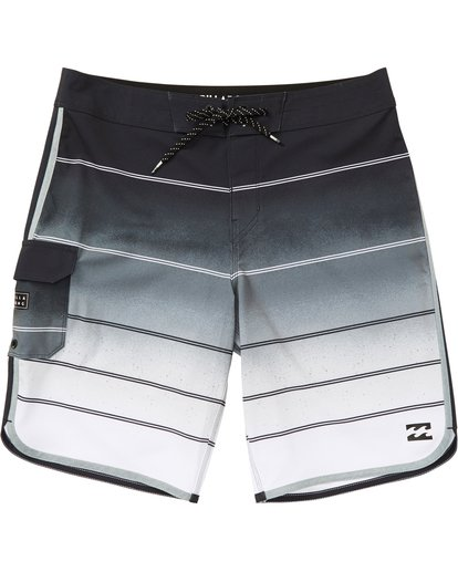 0 Boys' 73 X Stripe Boardshorts Grey B129NBSS Billabong