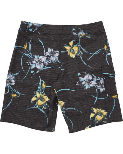 1 Boys' All Day Floral Pro Boardshorts Black B132TBAF Billabong