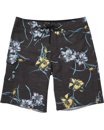 0 Boys' All Day Floral Pro Boardshorts Black B132TBAF Billabong