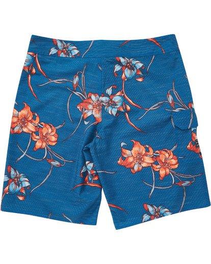 1 Boys' All Day Floral Pro Boardshorts Blue B132TBAF Billabong