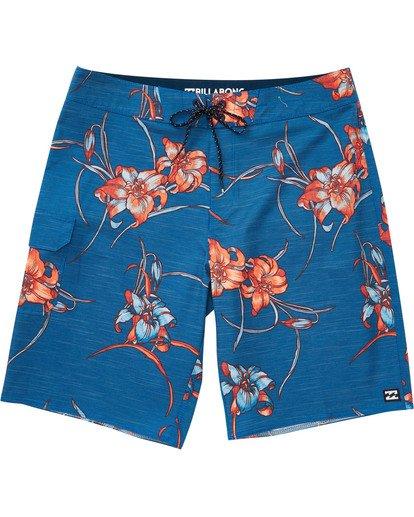 0 Boys' All Day Floral Pro Boardshorts Blue B132TBAF Billabong