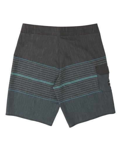1 Boys' All Day Heather Stripe Pro Boardshorts Black B1331BHP Billabong