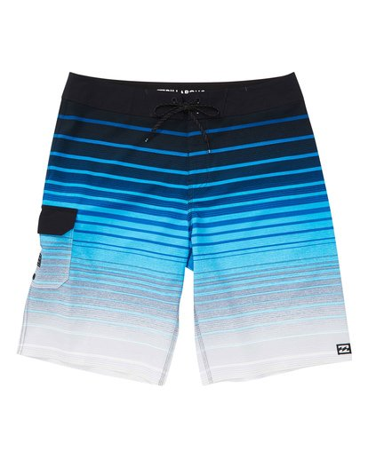 0 Boys' All Day Stripe Pro Boardshorts Blue B133TBAS Billabong