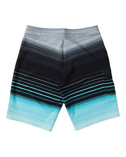 1 Boys' All Day Stripe Pro Boardshorts Green B1341BSP Billabong