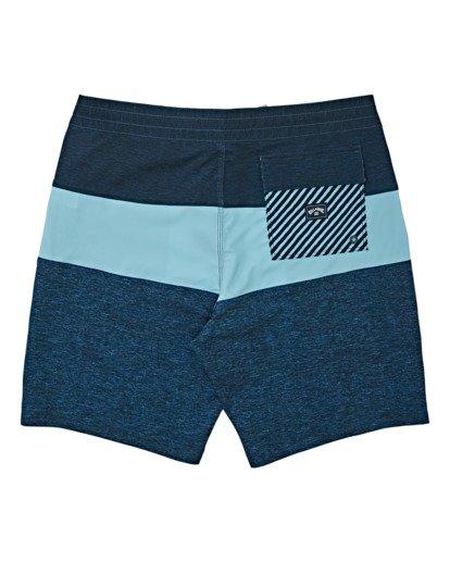 "1 Boys' Tribong Lo Tides Boardshorts 17"" Blue B1371BTL Billabong"