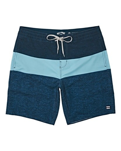 "0 Boys' Tribong Lo Tides Boardshorts 17"" Blue B1371BTL Billabong"