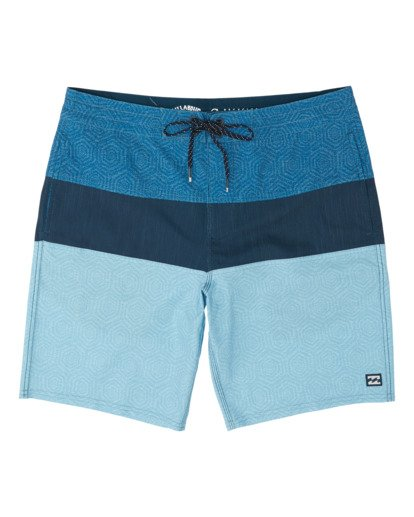 0 Boys' Tribong Lo Tides Boardshorts Blue B1371BTL Billabong