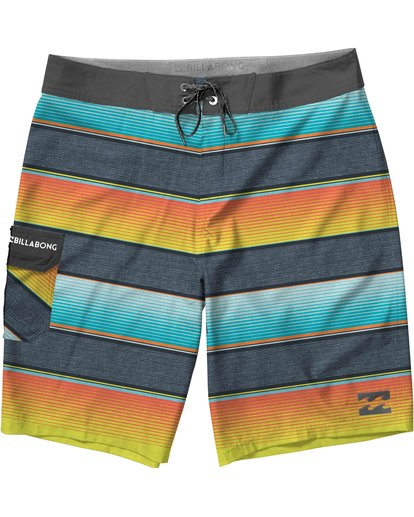 0 Boys' All Day OG Stripe Boardshorts  B160JASO Billabong