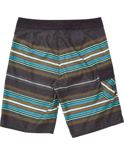 1 Boys' All Day Stripe OG Boardshorts Grey B160TBAD Billabong
