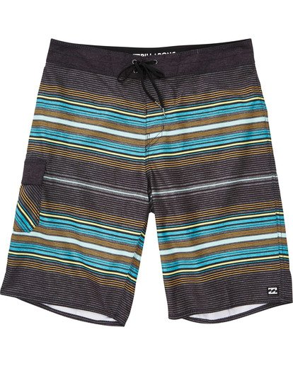 0 Boys' All Day Stripe OG Boardshorts Grey B160TBAD Billabong
